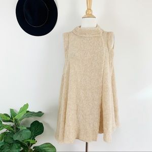 New Free People sleeves-less cardigan